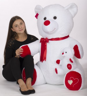100 cm Giant Bear with Cub