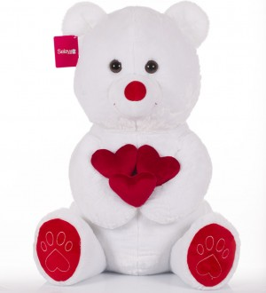 65cm Plush Bear with 3 Heart