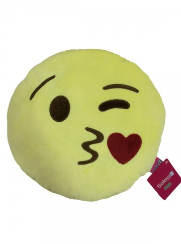 35 cm Blow Kiss Emoji Pillow