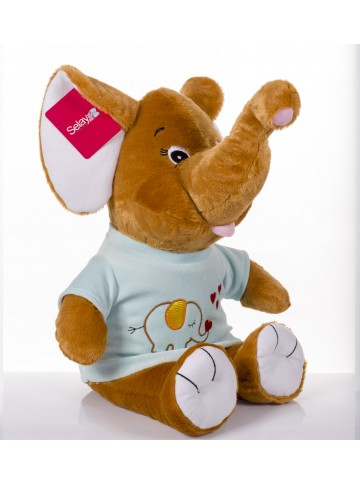 50 cm Plush Elephant with a Shirt