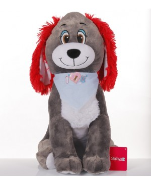60 cm Plush Dog with a Hat