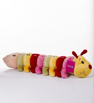 70 cm Educational Plush Caterpillar