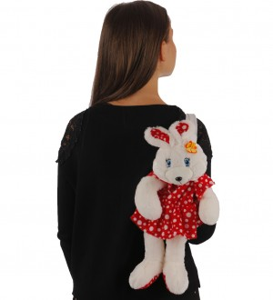 30 cm plush rabbit backpack
