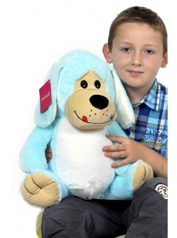 45 cm Plush Dog with Eyebrows
