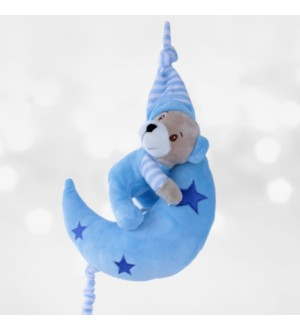 Sleep Bear Doll Musical Blue 20 Cm