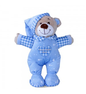 Sleep Bear Doll Blue 25 Cm